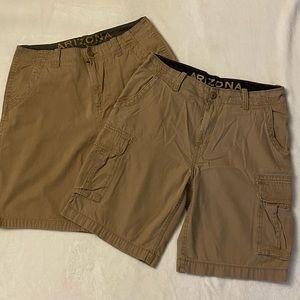 Arizona Khaki Shorts, Size 34